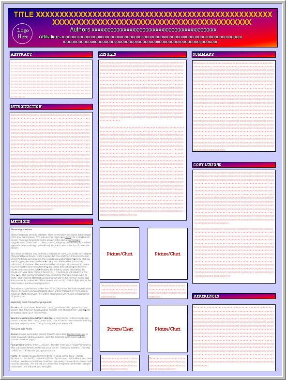 Sample research poster template